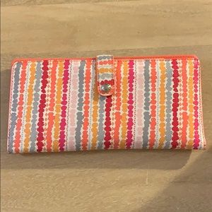 Vera Bradley slim travel wallet